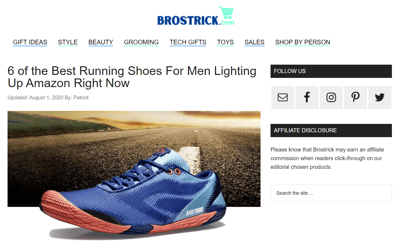 Brostrick Affiliate Marketing Site