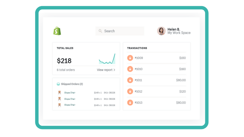 Shopify's easy to manage system