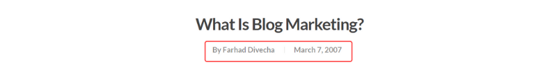 Article Publication Date - Below the Title