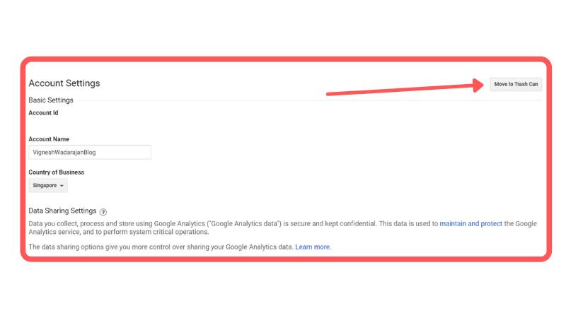 Delete Your Google Analytics Account