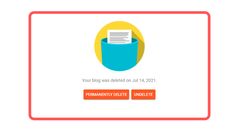 Deleting an old blog on blogger permanently