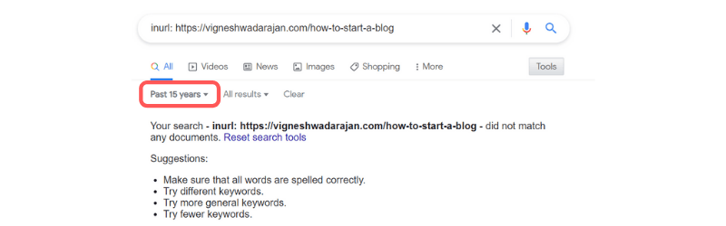Finding an Article Date Using Google Search Parameter
