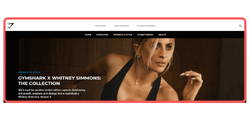 Gymshark X Whitney Simmons Collaboration